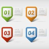 Ícones coloridos do progresso do grupo Fotos de Stock Royalty Free