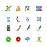 Ícones coloridos do software Foto de Stock Royalty Free