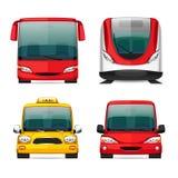 Ícones coloridos do transporte ilustração royalty free