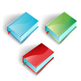 Ícones coloridos dos livros Ilustração Stock