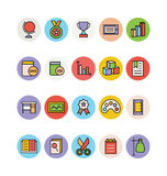 Ícones coloridos educação 13 do vetor ilustração stock