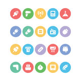 Ícones coloridos eletrônica 11 do vetor Imagens de Stock Royalty Free