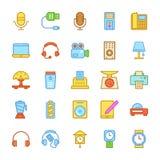 Ícones coloridos eletrônica 4 do vetor Imagens de Stock