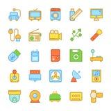 Ícones coloridos eletrônica 7 do vetor Imagem de Stock