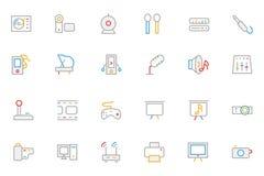 Ícones coloridos música 4 do vetor do esboço Imagens de Stock Royalty Free