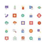 Ícones coloridos segurança 2 do vetor Fotos de Stock