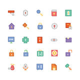 Ícones coloridos segurança 1 do vetor Imagens de Stock