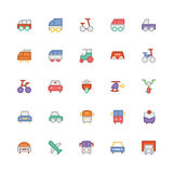 Ícones coloridos transporte 1 do vetor Imagem de Stock