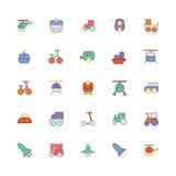 Ícones coloridos transporte 2 do vetor Imagens de Stock
