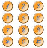 Ícones com número Fotos de Stock