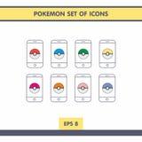 Ícones com Pokemon Foto de Stock