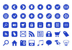 Ícones com vários símbolos Fotografia de Stock Royalty Free