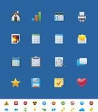 Ícones comuns do Web site do vetor para webmasters ilustração royalty free