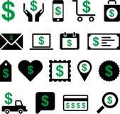 Ícones conceptuais do dólar Imagem de Stock