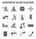 Ícones concretos do assoalho ilustração stock