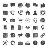Ícones contínuos da Web do contato ilustração stock