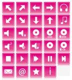 Ícones cor-de-rosa Fotos de Stock