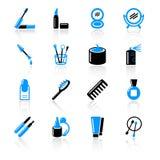 Ícones cosméticos ilustração royalty free