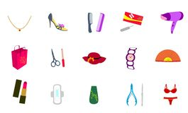 Ícones cosméticos para o projeto de Web Foto de Stock Royalty Free