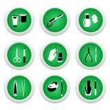 Ícones cosméticos para o projeto de Web Imagens de Stock