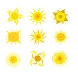 ícones creativos do sol Foto de Stock