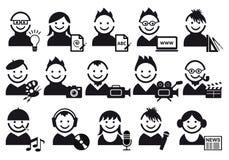 Ícones creativos dos povos ilustração stock