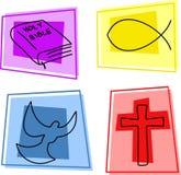 Ícones cristãos ilustração stock