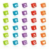 Ícones cubados do Web (vetor) Foto de Stock Royalty Free