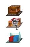 ícones 3D Foto de Stock