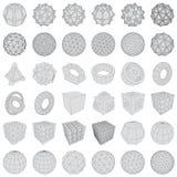 Ícones 3d futuristas Grupo dos elementos 3d e de símbolos infographic para a interface de utilizador Imagens de Stock Royalty Free