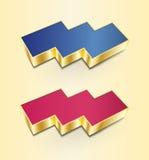 Ícones 3D triplos Imagens de Stock Royalty Free