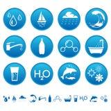 Ícones da água Foto de Stock Royalty Free
