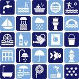 Ícones da água Fotografia de Stock Royalty Free