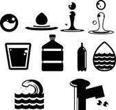 ícones da água Imagem de Stock Royalty Free
