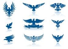 Ícones da águia Imagem de Stock