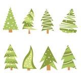 Ícones da árvore de Natal Foto de Stock Royalty Free