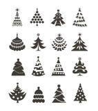 Ícones da árvore de Natal Imagem de Stock