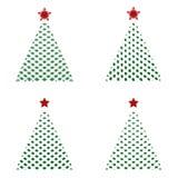 Ícones da árvore de Natal Fotografia de Stock