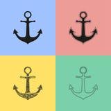 Ícones da âncora Imagens de Stock Royalty Free