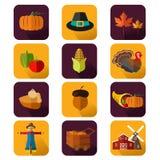 Ícones da ação de graças Imagem de Stock