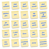 Ícones da acomodação - série das notas Fotografia de Stock