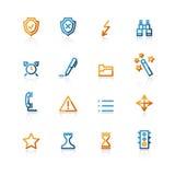 Ícones da administração do contorno Imagem de Stock Royalty Free