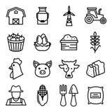 Ícones da agricultura Fotografia de Stock Royalty Free
