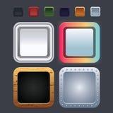Ícones da aplicação Imagens de Stock Royalty Free