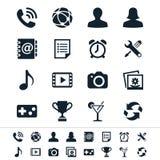Ícones da aplicação ilustração royalty free