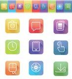 Ícones da aplicação Imagem de Stock Royalty Free