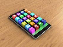 ícones da aplicação 3d Foto de Stock