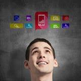Ícones da aplicação da relação dos meios Fotos de Stock