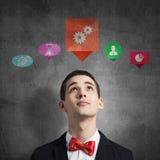 Ícones da aplicação da relação dos meios Imagens de Stock