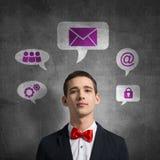Ícones da aplicação da relação dos meios Fotografia de Stock Royalty Free